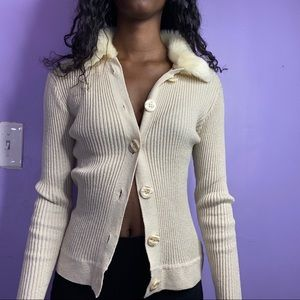Guess Fur Cardigan